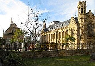 Walter Bagot (architect) - Image: Uof Adelaide Bonython Hall&Conservatorium front Aug 08