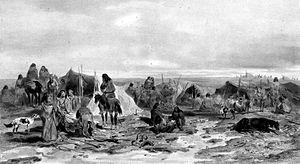 Tehuelche people - Tehuelche camp, 1838.