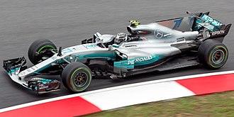 Sport in Finland - Bottas driving for Mercedes at the 2017 Malaysian Grand Prix