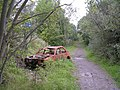 Vandalised car near Wishaw Golf Course - geograph.org.uk - 242101.jpg