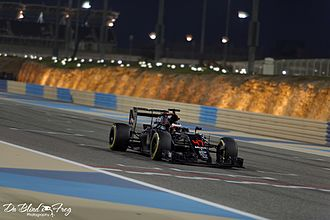 2016 Bahrain Grand Prix - Stoffel Vandoorne replaced Fernando Alonso at McLaren.