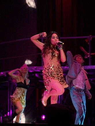 Vanessa Hudgens - Hudgens in concert in January 2007
