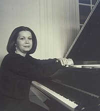 Verda Erman with Yamaha grand piano 20140801.jpg