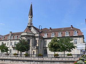 Hôtel de ville de Vesoul - Vesoul (Везуль), регион Франш-Конте, Франция - достопримечательности, путеводитель по городу. Карта, транспорт, схемы маршрутов, билеты, что посмотреть в Везуле, как добраться в Везуль, города Франции, путеводитель по Франции, окрестности Безансона, что посмотреть вокруг Безансона, достопримечательности Франции, транспорт по Франш-Конте