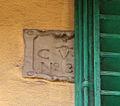 Via dei pilastri 13, pietrino dlel'oratorio della concezione.JPG