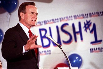 "Iran–United States relations - George H. W. Bush said that he would ""never apologize for the United States of America. Ever. I don't care what the facts are."""