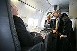 Vice President Cheney Talks With David Addington and Megan McGinn Aboard Air Force Two En Route to Salt Lake City, Utah (18578129716).jpg