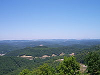 A view from Pine Mountain, located in the Appalachian Mountains, the most beautiful place this side of Heaven.