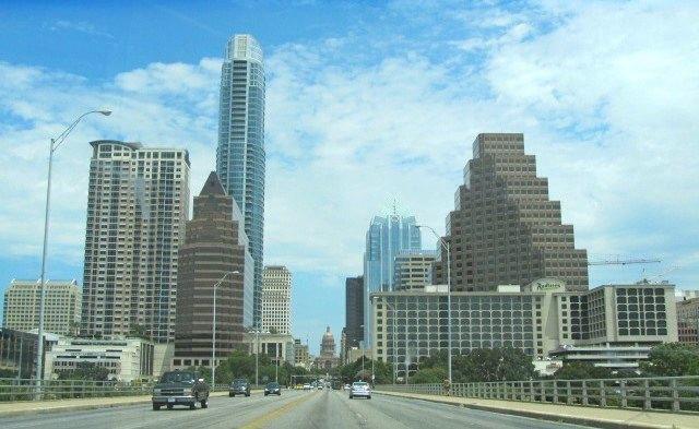 View of Austin From Congress Street Bridge