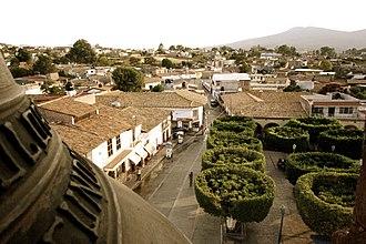 Churintzio - View over the main square in the municipal seat of Churintzio