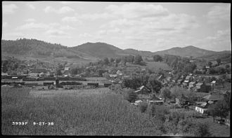 Tellico Plains, Tennessee - Tellico Plains in 1938