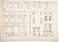 Villa Farnesina, Stables, half front elevation and end elevation (recto) Palazzo Salviati-Adimari, plan (verso) MET DP810640.jpg