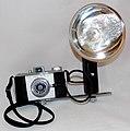 Vintage Kodak Pony 828 Camera With Kodak Standard No. 92F Flasholder, Both Made In USA, Camera Was Produced from 1949 - 1959 (35791855791).jpg