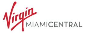 Logo of Virgin MiamiCentral, including typical Virgin Group branding