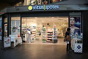 Pharmacy (shop) - Image: Vitusapotek 2012