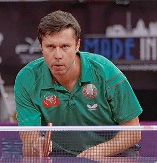 Vladimir Samsonov Belarusian table tennis player