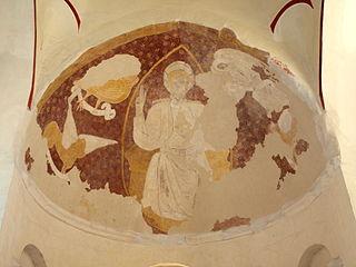 Christ en majesté, Evangélistes, Saint Eloi, donateur