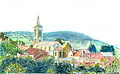 Vue du Village de Pontaubert, Jean Rolley.JPG