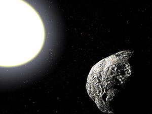 Vulcanoid - Artist's impression of a vulcanoid asteroid