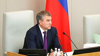 Vyacheslav Volodin - Vyacheslav Volodin in the chair of the Chairman of the State Duma