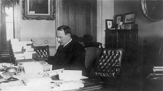 William Collins Whitney - Secretary of the Navy William C. Whitney in his office (circa 1885)