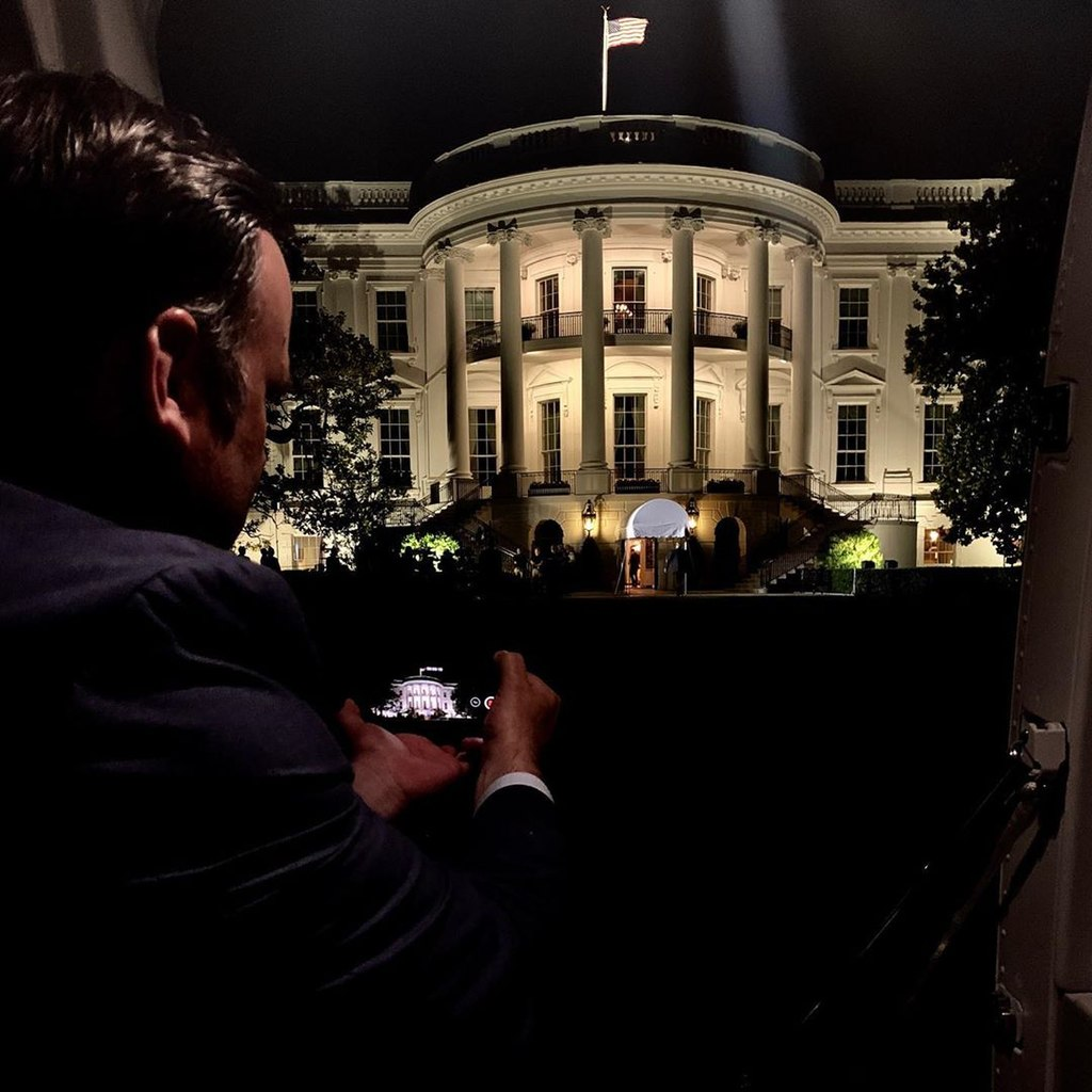 WH South side 2019 at night by Dr. Sean Conley