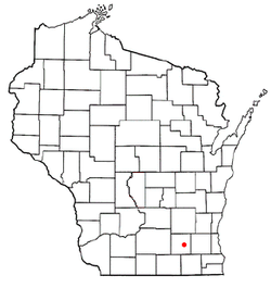 Location of Helenville, Wisconsin