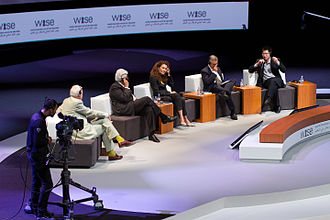 Qatar Foundation - Panel participants in the 2012 WISE Summit
