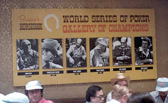 World Series of Poker - The Gallery of Champions in 1979.