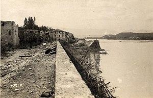 Nervesa della Battaglia - Image: WWI Battle of Caporetto New Italian Line at the Piave River in Nervesa