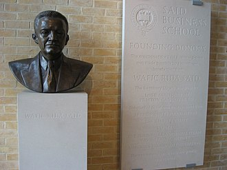 Saïd Business School - A bust of Wafic Saïd