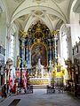 Waldkirch, Stiftskirche St. Margarethen, Innenansicht, Blick nach Osten 9.jpg