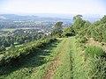 Walking down a grass track towards Gattonside - geograph.org.uk - 241859.jpg