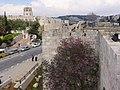 Walls of the Islamic Quarter of the Old City, on Sultan Suleiman Street, Jerusalem.jpg