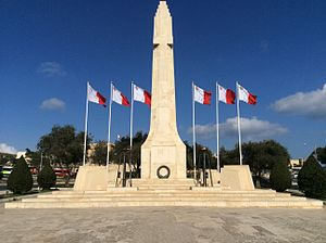 War Memorial (Floriana) - Image: War Monument (Floriana)