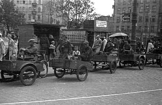 Iron-Gate Square - Rickshaws, Iron-Gate Square, July 1944