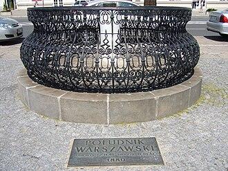Warsaw meridian - Description plate of the Warsaw meridian
