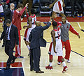Washington Wizards coaches and players on March 1, 2013.jpg