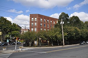National Register of Historic Places listings in New Haven County, Connecticut - Image: Waterbury CT George S Abbott Building
