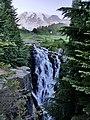 Waterfall near the peak of Mt Rainier.jpg