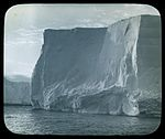 We scanned every yard of the mighty barrier in the hope of finding a possible landing place but not so much as a foothold offered for over one hundred miles (Australasian Antarctic Expedition, 1911-1914) (6173422949).jpg