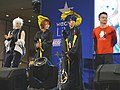 WecanLive Cosplay Award judges on the stage 20190413.jpg