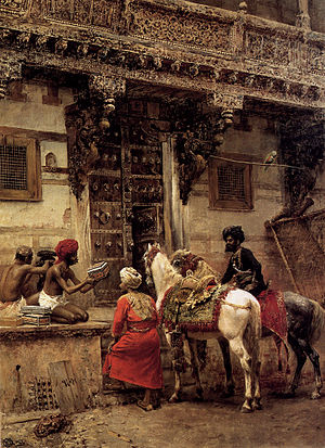 Master craftsman - Craftsman Selling Cases By A Teak Wood Building Ahmedabad, by Edwin Lord Weeks