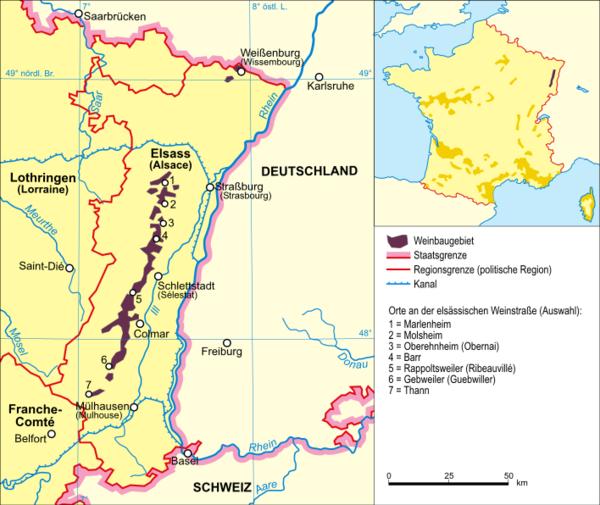 carte route des vins