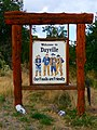 Welcome to Dayville Our Fossils Are Friendly Sign (37107410444).jpg