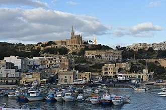 Gozo - View of Mgarr Harbour from the Gozo Channel Line