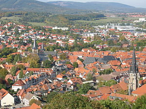 Wernigerode - View over Wernigerode