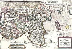 West Friesland (region) - West Friesland in the 17th century.