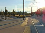 West along tracks from West Valley Central station, Aug 16.jpg