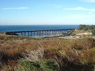 Gaviota, California - Gaviota railroad trestle and Gaviota Creek